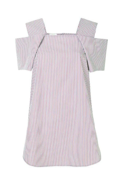 Monographie Strip Short Sleeve Top - Red/ Blue/ White Stripe