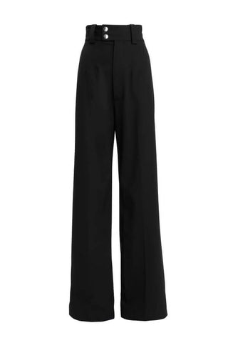 Proenza Schouler Wide Leg Wool Suiting Pant - Black - SIZE 2 (1485361381429)