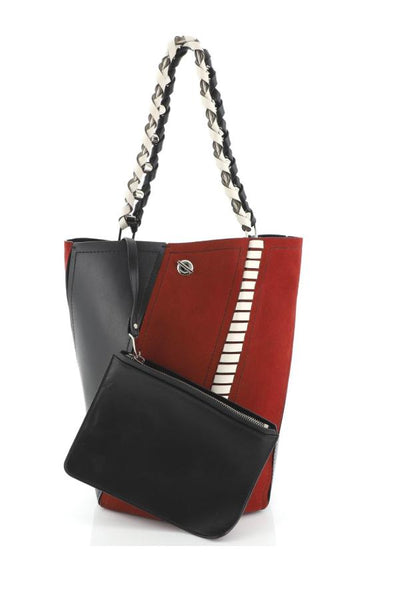 Proenza Schouler Medium Hex Bucket Bag - Red Plum/Black/Clay