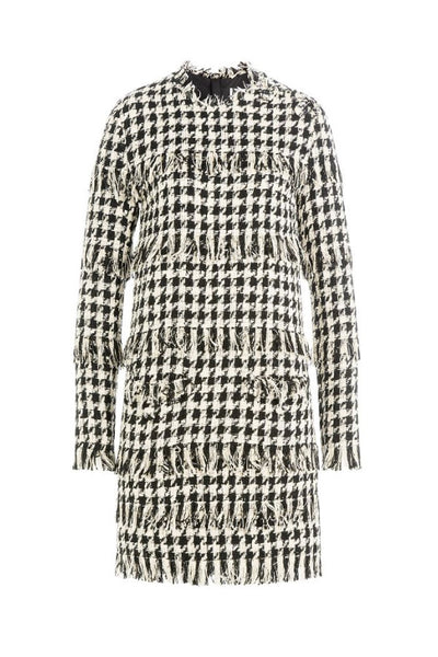 MSGM Tweed Fringed Dress