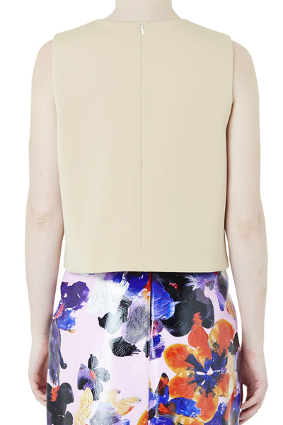 MSGM Marble Embroidered Crop Top