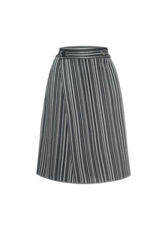 Marco de Vincenzo Lurex Striped Knit Skirt