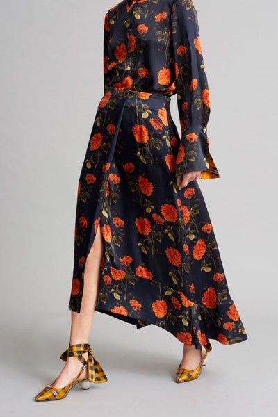 Mother of Pearl Lora Skirt - Mandarin Flower