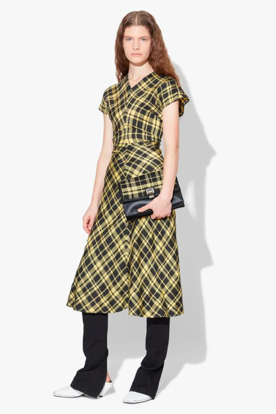 Proenza Schouler Woven Plaid Lunch Bag - Black/ Butter Toast