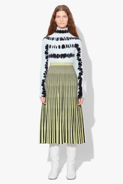 Proenza Schouler Jacquard Knit Skirt - Black/ Faded Neon Yellow - SIZE S (3719445381173)