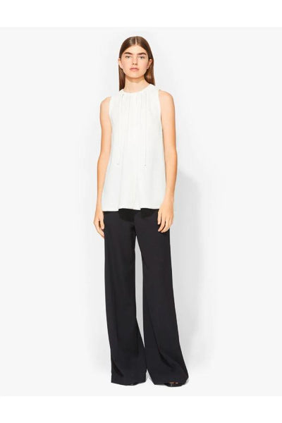Proenza Schouler Novel Tie Textured Crepe Sleeveless Top - Ecru (1480934359093)