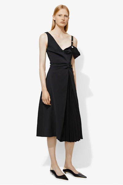 Proenza Schouler One Sleeve Open Shoulder Dress