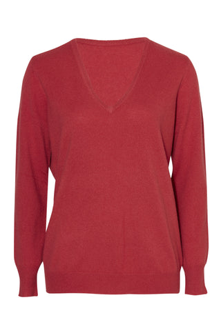 Vaille Cashmere Reversible V-Neck Sweater