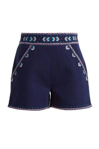 Talitha Embroidered Tailored Shorts