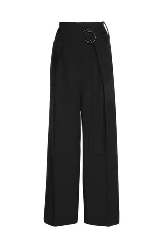 Petar Petrov Herma Tailored High Waisted Pants - Black