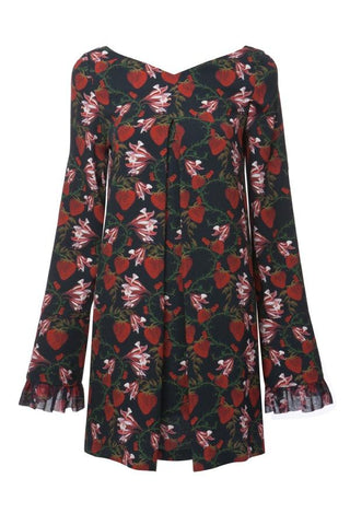 Mother of Pearl Nora Long Sleeve Dress - Strawberry Floral