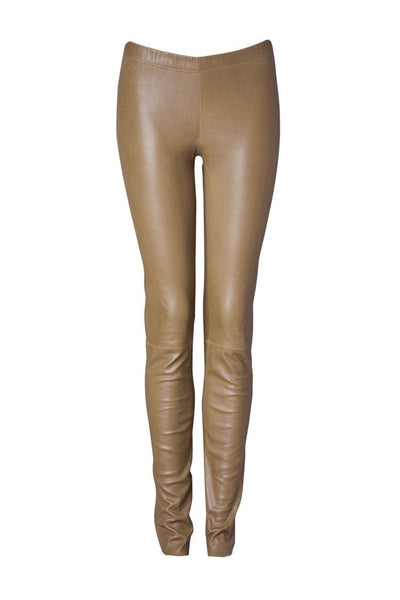 Ines Marechal Leather Legging - Camel (609697562677)