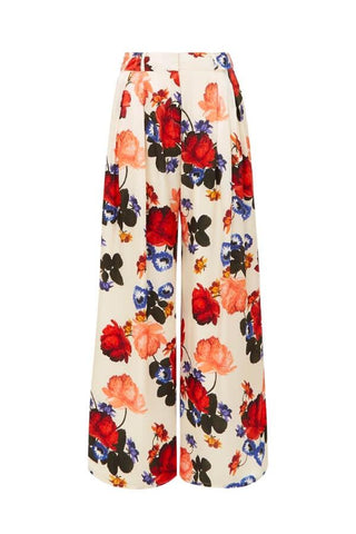 Mother of Pearl Anita Wide Leg Tailored Trouser - Ceres Floral Ivory - SIZE 6 (1620833992757)