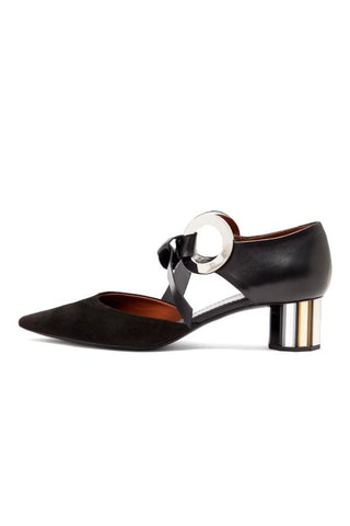 Proenza Schouler Closed Back Buckle Detail Heel - Black
