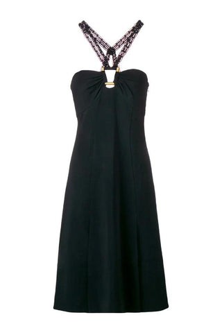 Proenza Schouler Macrame Strap Sleeveless Dress - Black