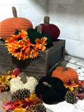Crocheted Pumpkins / Pumpkins Home Decor / Crochet Pumpkin Decor