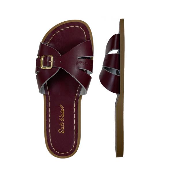 Classic Slide - Women-Sandal-Salt Water Sandals-Claret-4 / US 6-Salt Water Sandals Canada