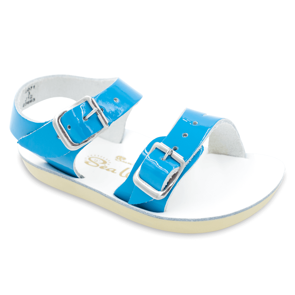 Sea Wees - Kids (Sale)-Sandal-Salt Water Sandals-Turquoise-Infant 2-Salt Water Sandals Canada