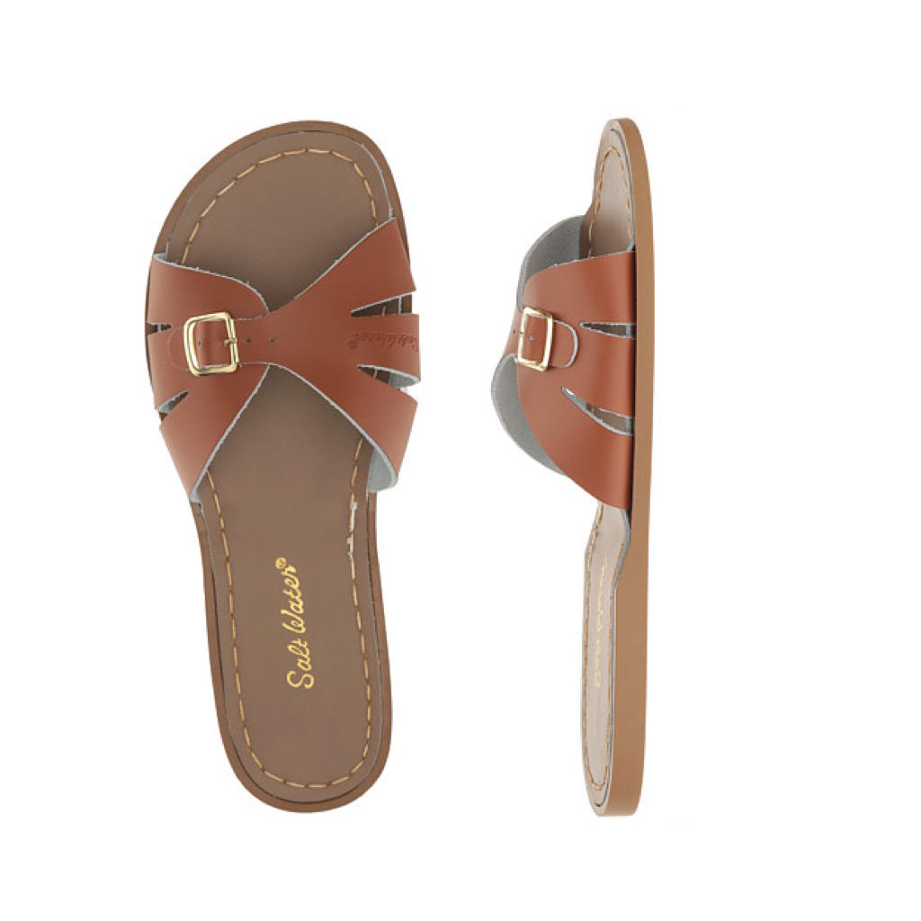 Classic Slide - Women-Sandal-Salt Water Sandals-Tan-4 / US 6-Salt Water Sandals Canada