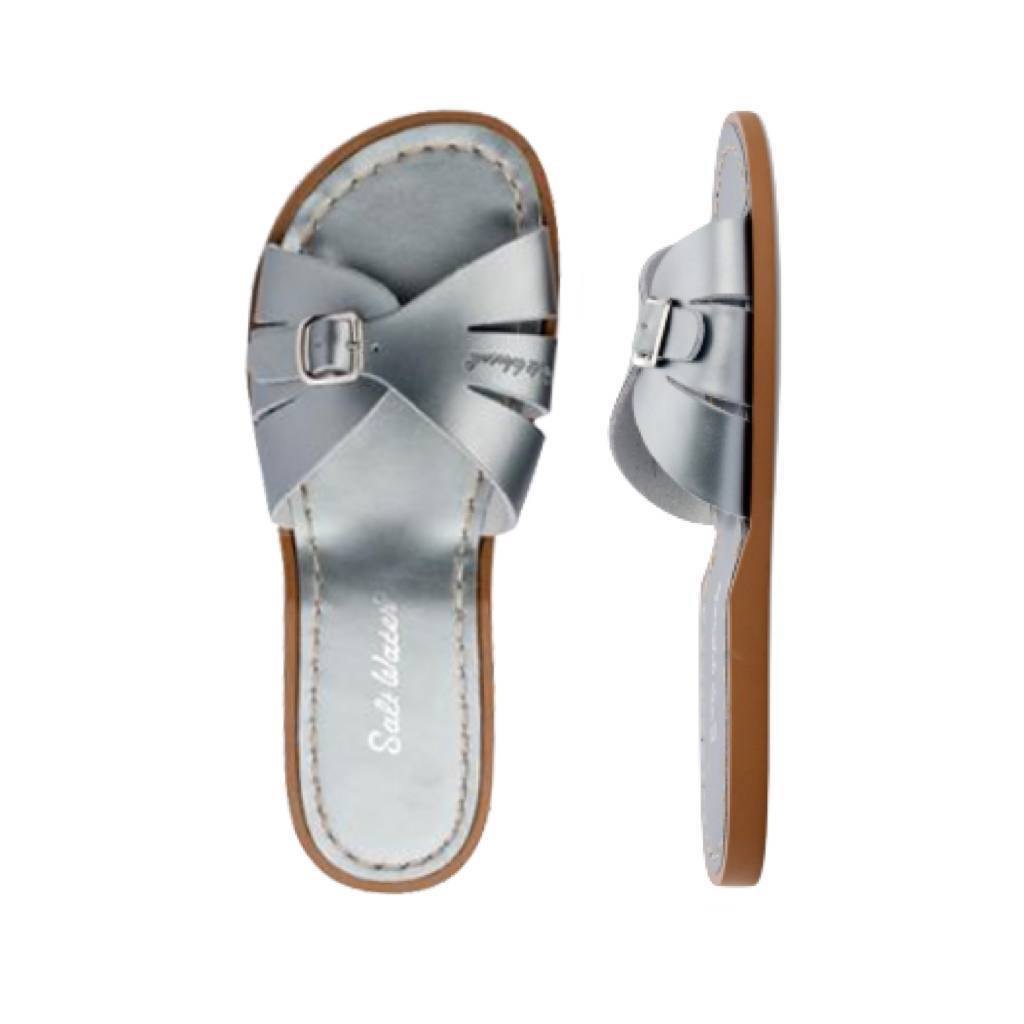 Classic Slide - Women-Sandal-Salt Water Sandals-Pewter-4 / US 6-Salt Water Sandals Canada