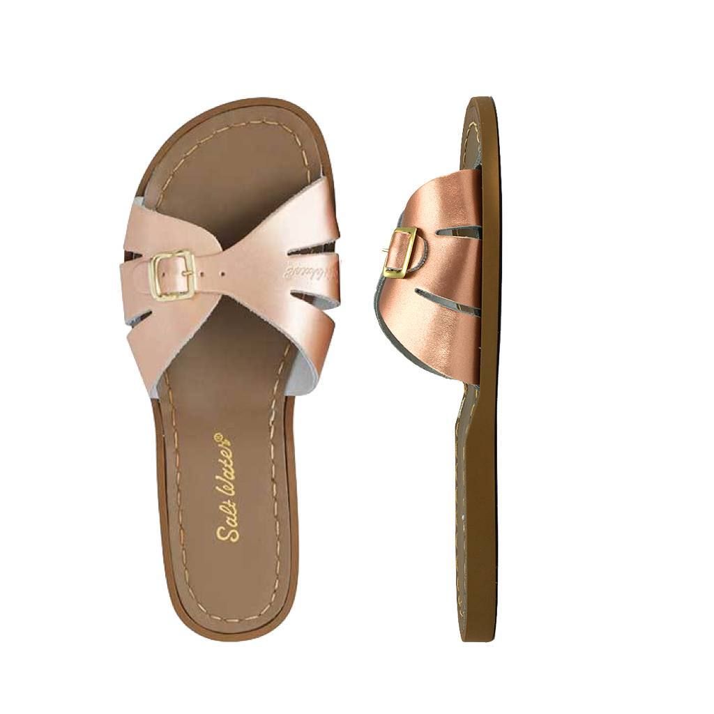 Classic Slide - Women-Sandal-Salt Water Sandals-Rose Gold-4 / US 6-Salt Water Sandals Canada