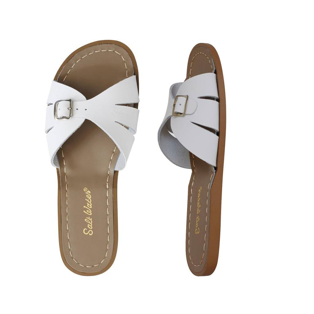 Classic Slide - Women-Sandal-Salt Water Sandals-White-4 / US 6-Salt Water Sandals Canada