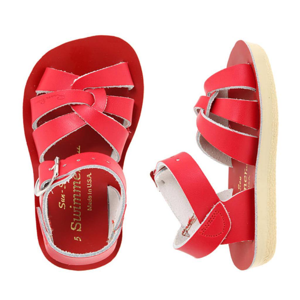 Swimmer-Sandal-Salt Water Sandals-Red-Toddler 5-Salt Water Sandals Canada