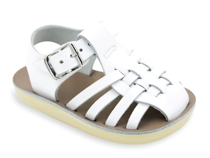 Sailor - Kids-Sandal-Salt Water Sandals-White-Toddler 5-Salt Water Sandals Canada