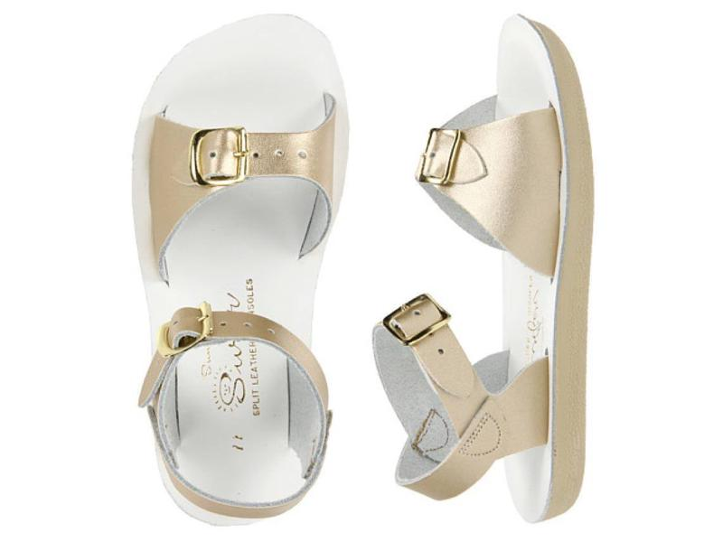 Surfer (Fashion Colours) - Kids-Sandal-Salt Water Sandals-Gold-Child 9-Salt Water Sandals Canada