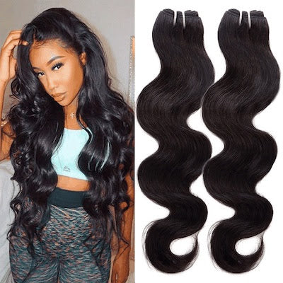 Virgin Body Wave Raw    - Hair Bundle (2pc)