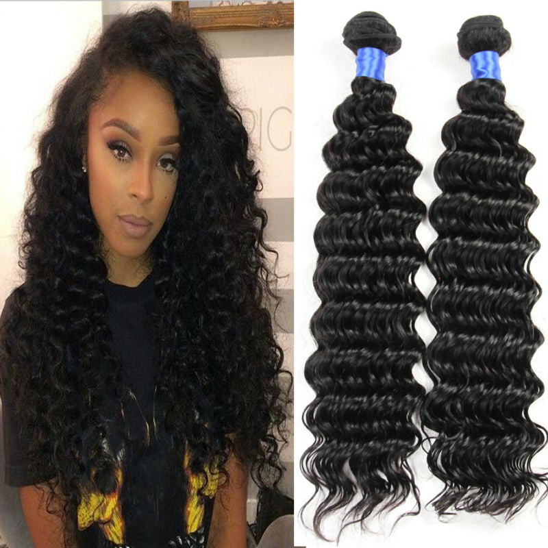 natural deep wave hair 2 bundles deal miami extensions , hair for black women