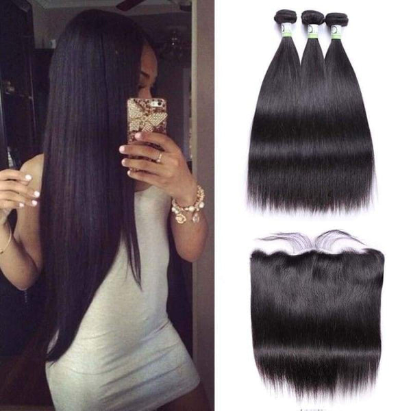 3 bundes plus 1 frontal straight hair