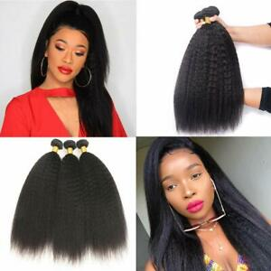 kinky straight hair 3 pc natural hair for black women