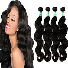 4 pc bundle virgin body wave hair for black women