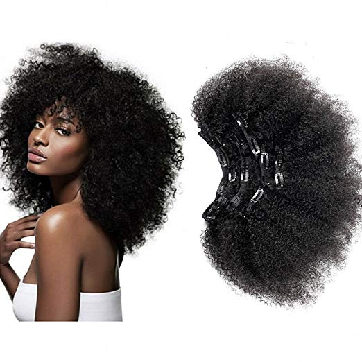 Afro  Kinky 4c    -  Clip ins Set