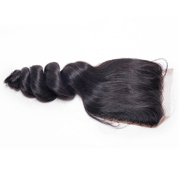 miami extensions virgin loose wave lace closure 4by4