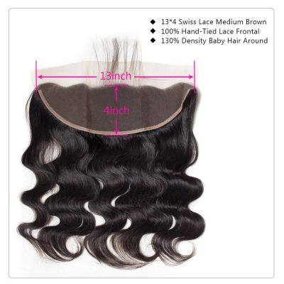 miami extensions body wave frontal 13 by 4  virgin  human hair
