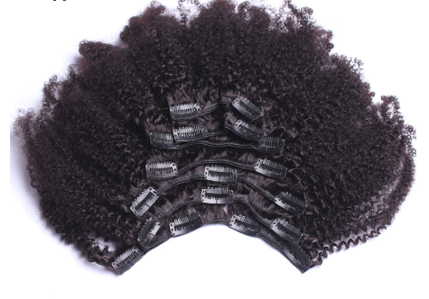 kinky curly clip ins afro