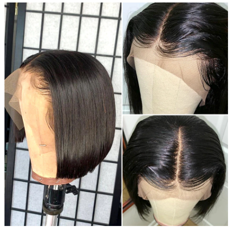 cute  blunt bob , virgin hair miami extensions