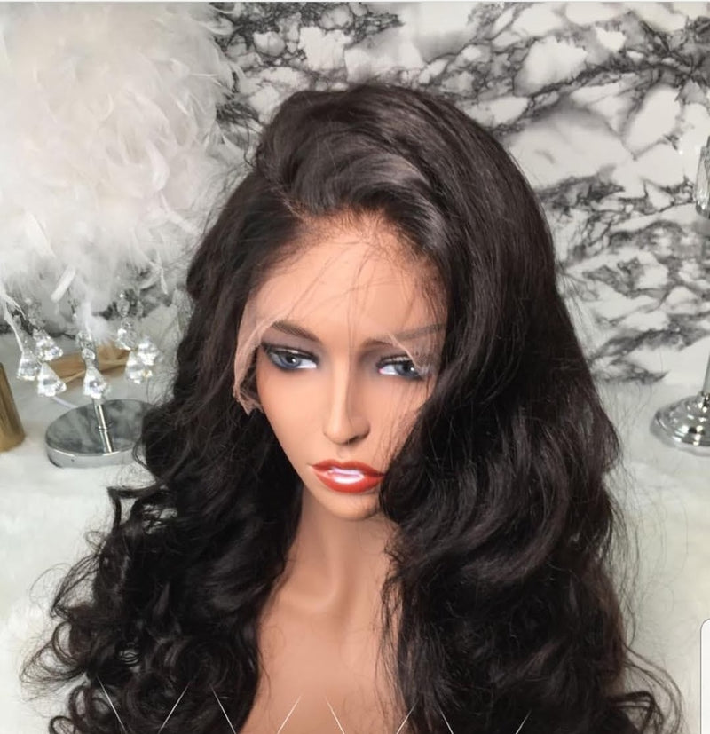 VIRGIN Loose WAVY  Wig -- Budget Friendly Wigs
