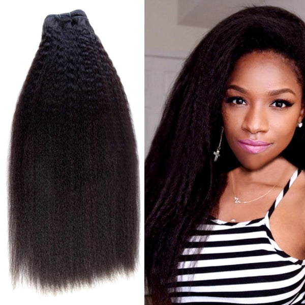 kinky straight hair, natural hair extensions for black women Miami extensions , black women wearing long natural virgin hair , raw virgin hair , good quality hair