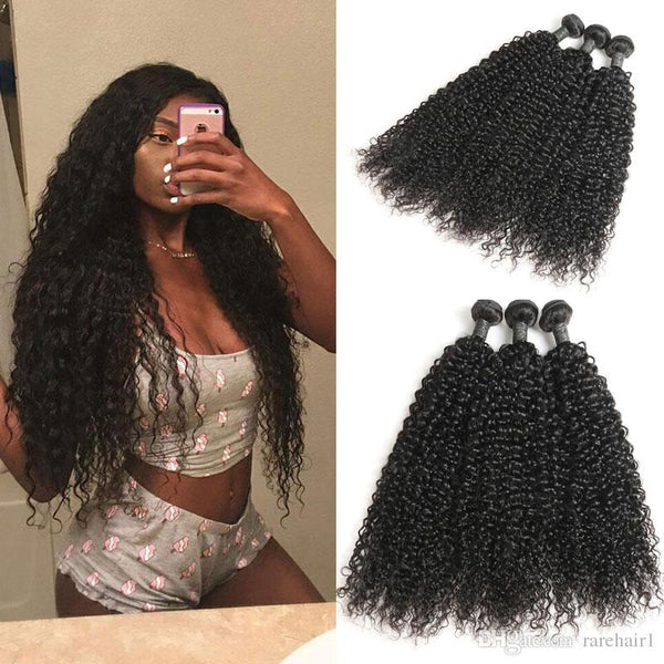 3 pc kinky curly hair 3a-3b natural texture for black women miami extensions