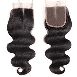 miami extensions virgin body wave  lace closure 4by4