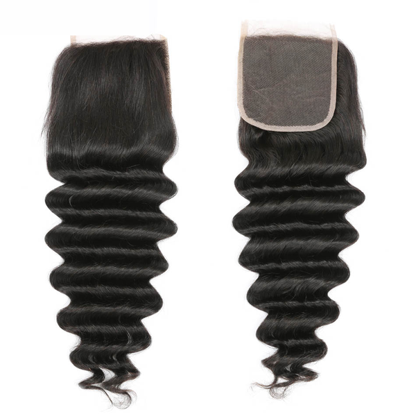 Virgin Deep Wave  -    4by4 Closure  (1pc)