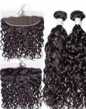 2 pc bundle deal virgin Italian wave  with 13 by 4 lace frontal  , hair for black women