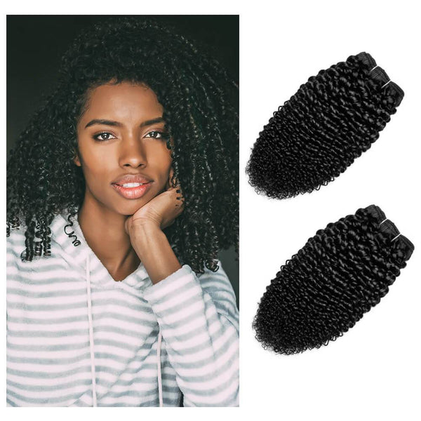 kinky curly hair 3a - 3b texture on african american women  from miami hair extensions