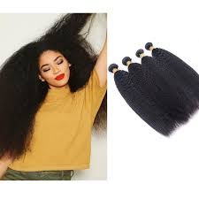 Virgin  Kinky Straight Raw - Hair Bundle (4 pc)