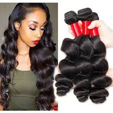 3 pc loose wave hair for african american women miami extensions