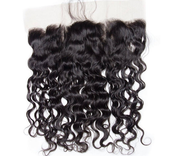 miami extensions natural wave frontal 13 by 4  virgin  human hair