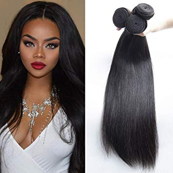 Raw virgin straight hair 3 bundle deal miami extensions , hair for african American women